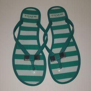 COACH Landon Jelly Sandals size 7